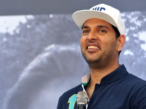 Indian cricketer Yuvraj Singh during the Mercedes-Benz India and Laureus Sport press conference. Photo: Kamlesh Pednekar