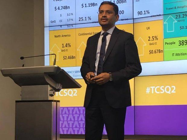 TCS shares gain over 2% after Q2 results