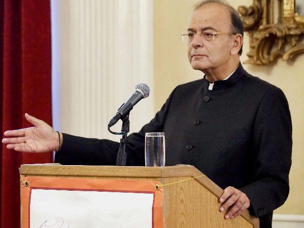 Indian Finance Minister Arun Jaitley delivers the Harvard Mahindra lecture at the Harvard South Asia Institute in Boston. File Photo: PTI