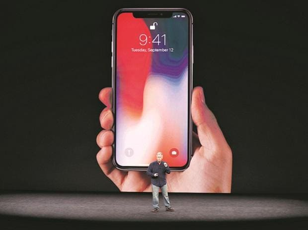 Apple Senior Vice-President of Worldwide Marketing, Phil Schiller, at the launch of iPhone X on September 12.Photo: Reuters