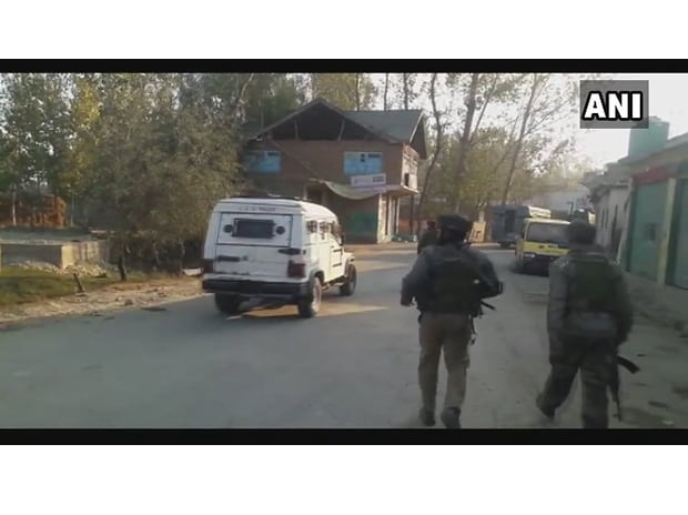 Two terrorists Wasim Shah and Hafiz Nisar gunned down by security forces in an encounter in J&K's Pulwama (Photo: Twitter, @ANI)