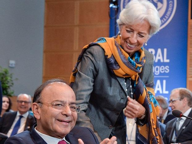 Arun Jaitley with IMF chief Christine Lagarde. Photo: Ministry of Finance Twitter handle