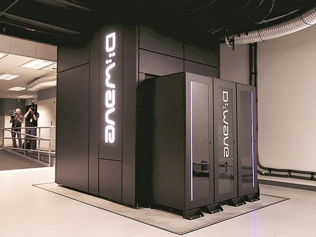 D-Wave 2X quantum computer at NASA Ames Research Center in Mountain View, California, housed inside the NASA Advanced Supercomputing (NAS) facility. The  1,097-qubit system is the largest quantum annealer in the world and a joint collaboration betwee