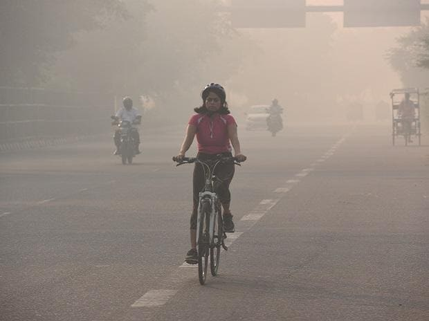 Pollution in Delhi breached emergency levels on the Diwali night, but compared to last year's after Diwali period, the city is relatively better off. Photo: Dalip Kumar