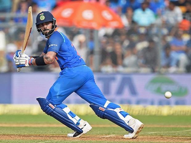 Virat Kohli in action during the first ODI ...
