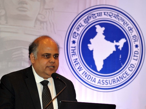G Srinivasan CMD The New India Assurance Company Limited during the IPO Press Conference in Mumbai