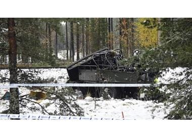 Train collides with military vehicle in Finland, 4 killed