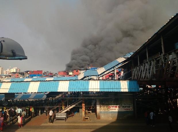 Bandra Station Fire in Mumbai