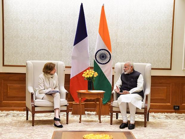 Ms Florence Parly, Minister for the Armed Forces of France calls on PM Narendra Modi in New Delhi. (Photo: @PIB_India)