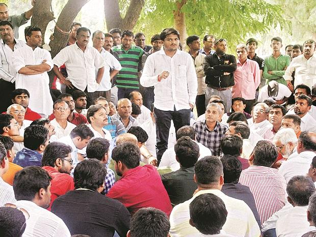 Dalits and sections of Patidar youth, led by Hardik Patel (above), may have a common enemy in the ruling party and government for now. BS photo