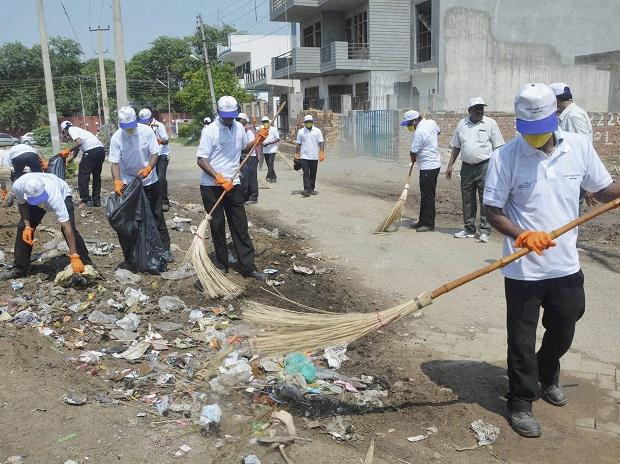 Swachh Bharat, clean India, sweeping