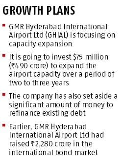 GMR to spend Rs 500 crore on Hyderabad airport expansion