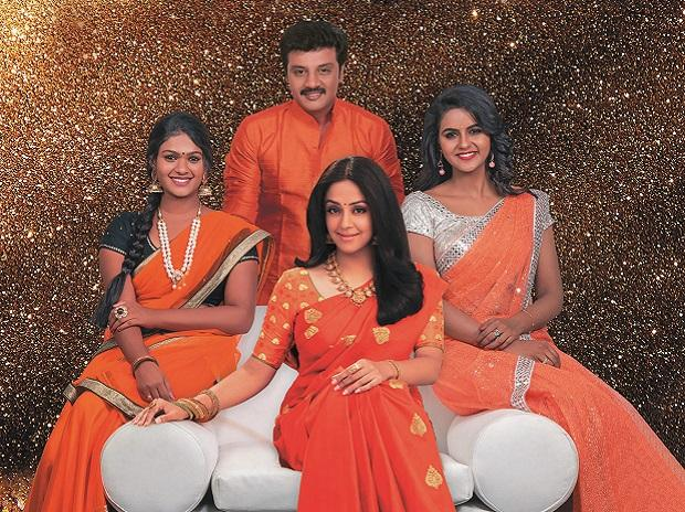 Zee Tamil is looking to stand out in a tough market using actress Jyothika (centre) as its face
