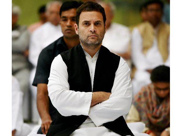 Congress Vice President Rahul Gandhi  attending a prayer meeting at the memorial of former Prime Minister, the late Indira Gandhi on her death anniversary, in New Delhi. (Photo: PTI)