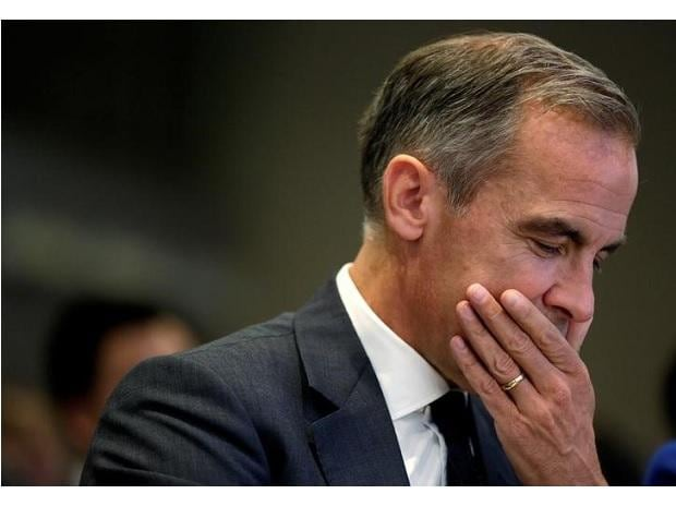 Governor of Bank of England Mark Carney sits before delivering the Michel Camdessus Central Banking Lecture at the the International Monetary Fund in Washington. Photo: Reuters