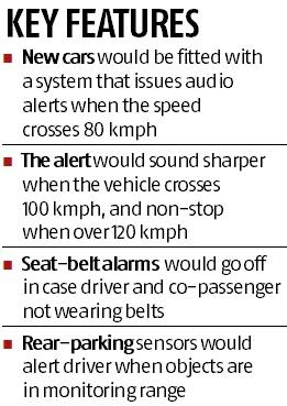 Airbags, speed alerts to be compulsory by 2019