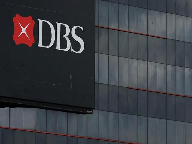 A logo of DBS is pictured outside an office in Singapore. Photo: Reuters