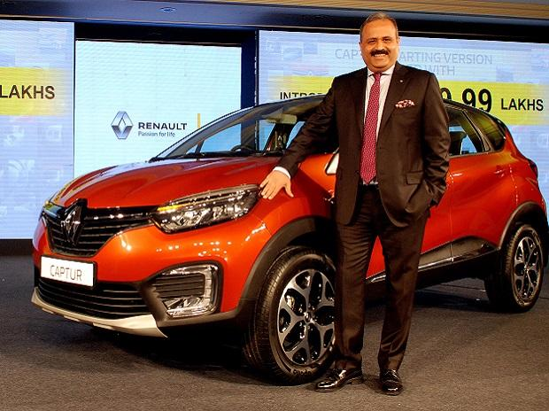 Sumit Sawhney Country CEO of Renault India at the Launch of