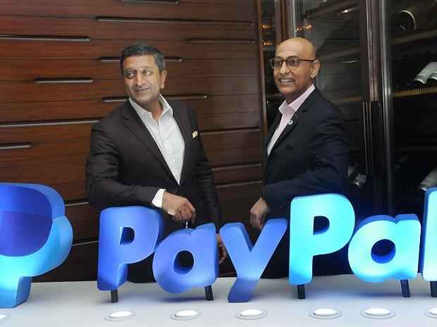 Rohan Mahadevan, SVP, APAC CEO, PayPal Pte Ltd and Anupam Pahuja, Managing Director & Country Manager, PayPal India at the launch of PayPal domestic operations in Mumbai