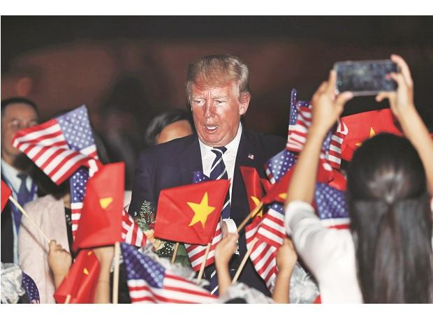 The increasing use of the phrase 'Indo-Pacific' by Donald Trump and his team during their marathon Asian jaunt this week, instead of the 'Asia-Pacific' term is being greeted with  thinly-veiled sneers in Beijing. (Photo: Reuters)