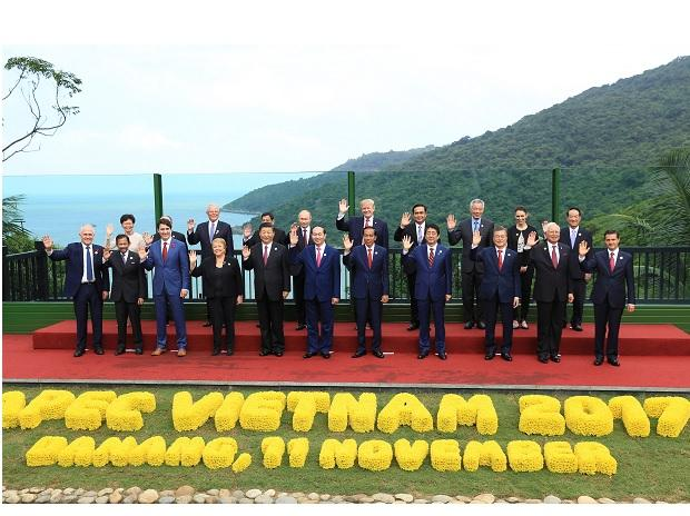 Leaders at the APEC Summit. File Photo: Reuters
