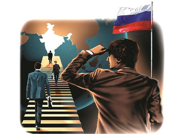 India, Russia, business