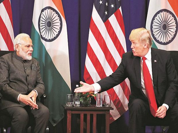 Manila: President Donald Trump, right, and Indian Prime Minister Narendra Modi shake hands during a bilateral meeting at the ASEAN Summit at the Sofitel Philippine Plaza, Monday, Nov. 13, 2017