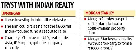 JPMorgan, Morgan Stanley put India realty investments on hold