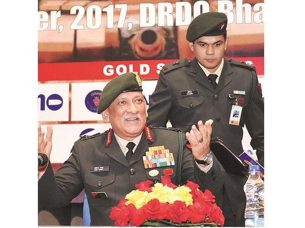 Army chief Gen Bipin Singh Rawat at a seminar in New Delhi on Wednesday. Photo: PTI