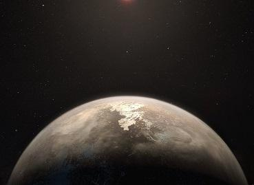 An artist's impression of the planet Ross 128 b