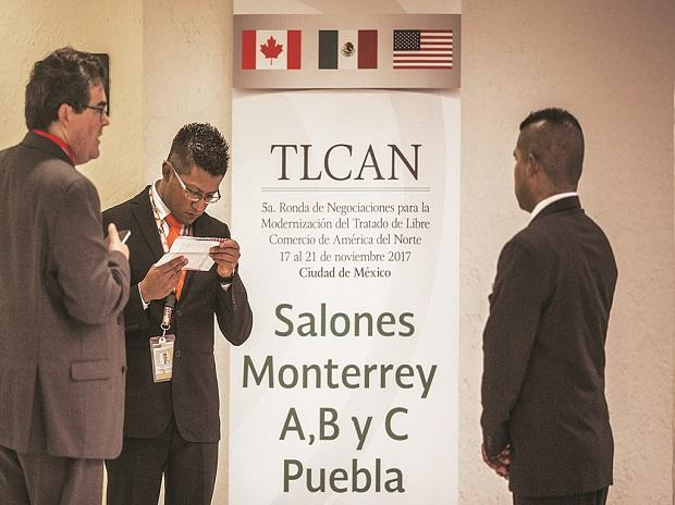 Officials from the US, Canada and Mexico are meeting in Mexico City for the 5th of seven rounds to update the North American Free Trade Agreement. Photo: Bloomberg