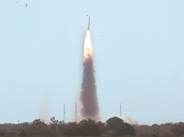 PSLV C38 carrying Cartosat-2 and 30 other satellites, lifts off from the Satish Dhawan Space Centre in Sriharikota,  on  June 23, 2016. The 104 small satellite launched by PSLV last year had caught the interest of global satellite makers