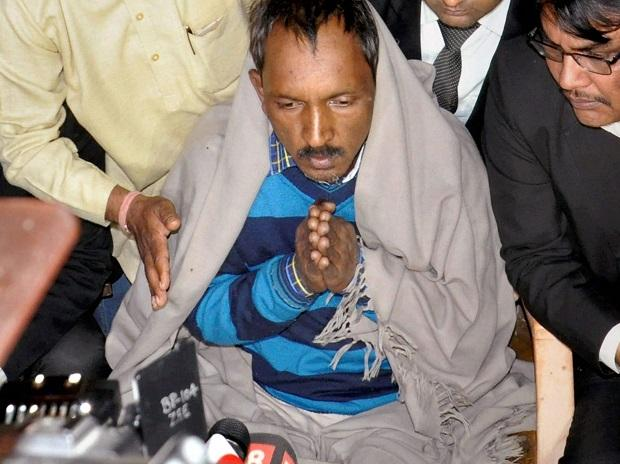 Ashok Kumar speaking to media after being released from jail