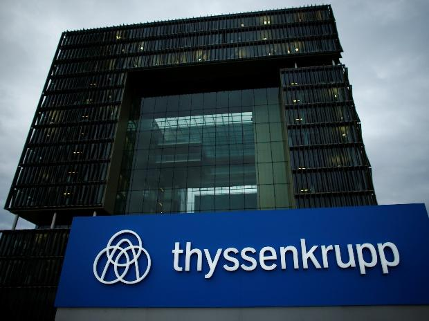 A logo of ThyssenKrupp AG is pictured outside the ThyssenKrupp headquarters in Essen. (Photo: Reuters)