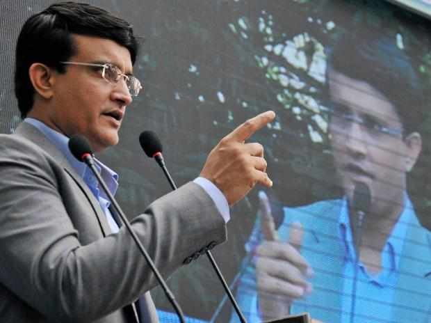Kolkata: Former Indian cricket captain and Cricket Association of Bengal (CAB) president Sourav Ganguly addresses budding cricketers during the inauguration of the Calcutta Police Surgeants' Institute cricket academy in Kolkata. (PTI Photo)