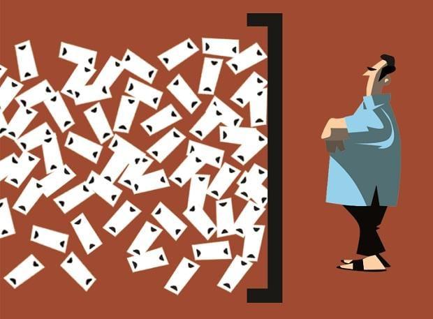 Demonetisation, Note ban. Illustration by Binay Sinha