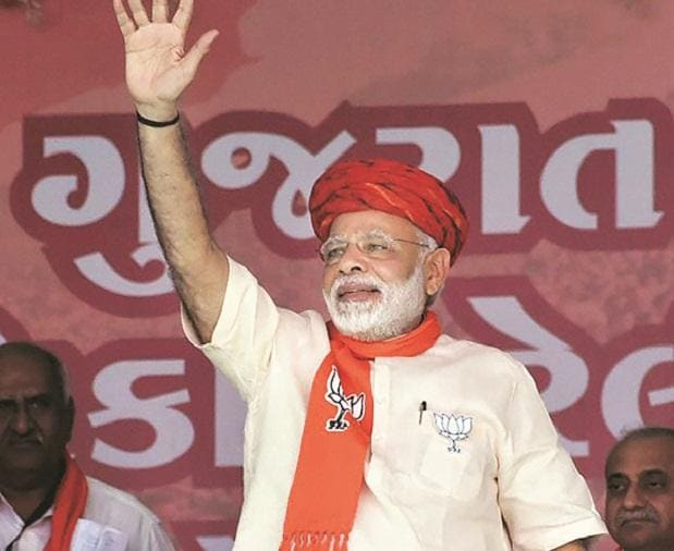 Prime Minister Narendra Modi at an election campaign rally in Morbi. File Photo: PTI