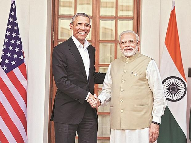 Former US president Barack Obama met Prime Minister Narendra Modi in New Delhi on Friday. This was the first meeting between them after Obama left the White House