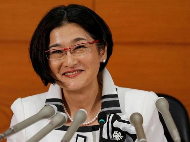 Bank of Japan's (BOJ) new board member Takako Masai attends a news conference at the BOJ headquarters in Tokyo. Photo: Reuters