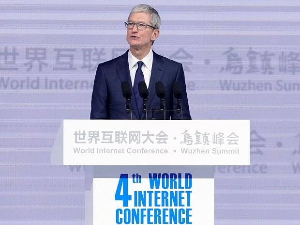 Apple CEO Tim Cook attends the opening ceremony of the fourth World Internet Conference in China. Photo: Reuters