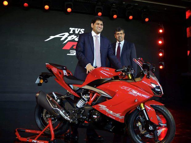 TVS forays into super premium motorcycles with Apache RR 310