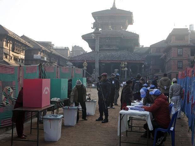 Nepalese people cast their vote during the legislative elections in Bhaktapur. Photo: AP/PTI
