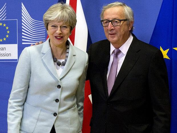 Theresa May, Brexit, European Commission President Jean-Claude Juncker