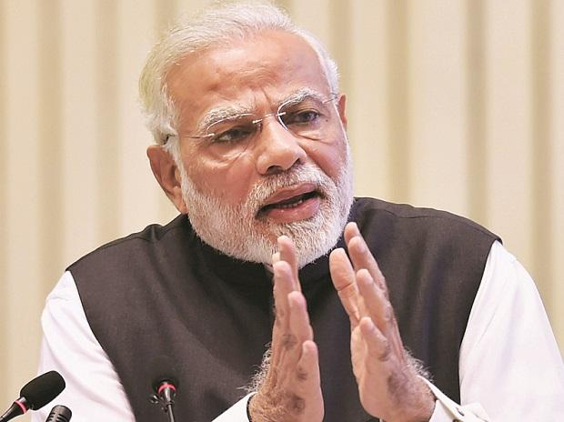 Prime Minister Narendra Modi at the  Ficci's 90th AGM in New Delhi on Wednesday. 	Photo: PTI