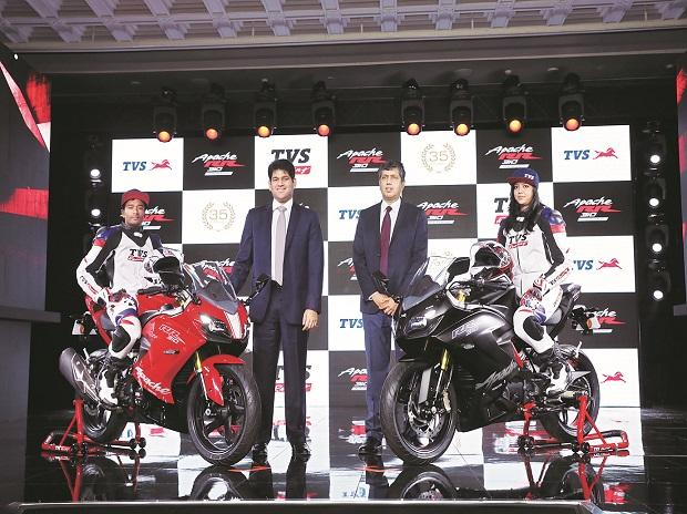 TVS rides on value in premium slab