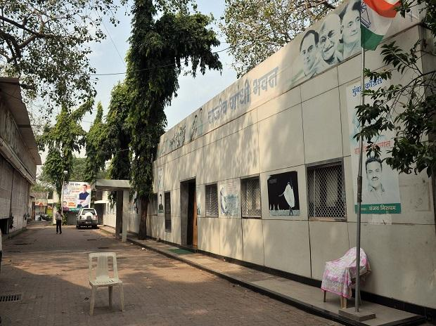 Congress Party Office in Mumbai on Monday. Photo: Kamlesh Pednekar