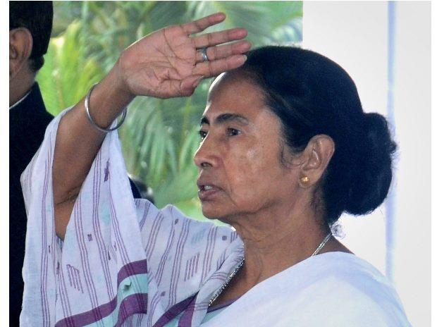 West Bengal CM Mamata Banerjee at the flagging off event for a fleet of new passenger buses and fire brigade vehicles, in Howrah near on Tuesday. (Photo: PTI)