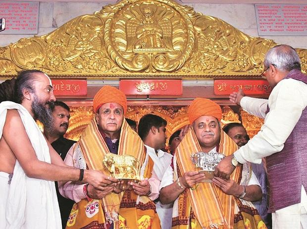 Vijay Rupani visits Panchdev temple ahead of swearing-in as Gujarat CM again