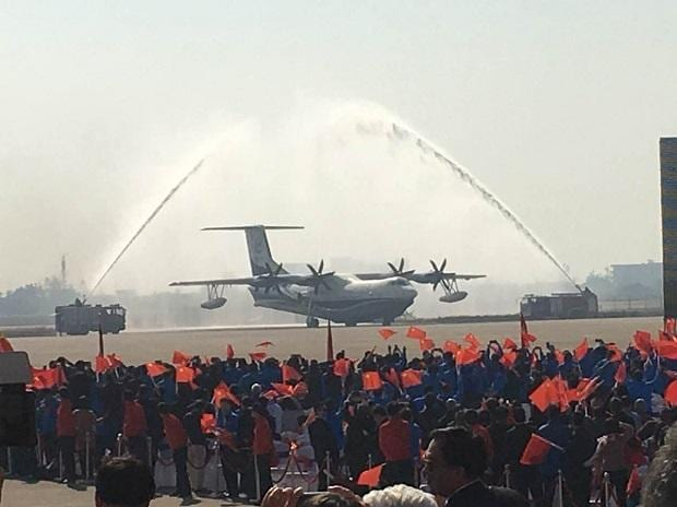 In pics: World's largest amphibious aircraft AG600 makes its maiden