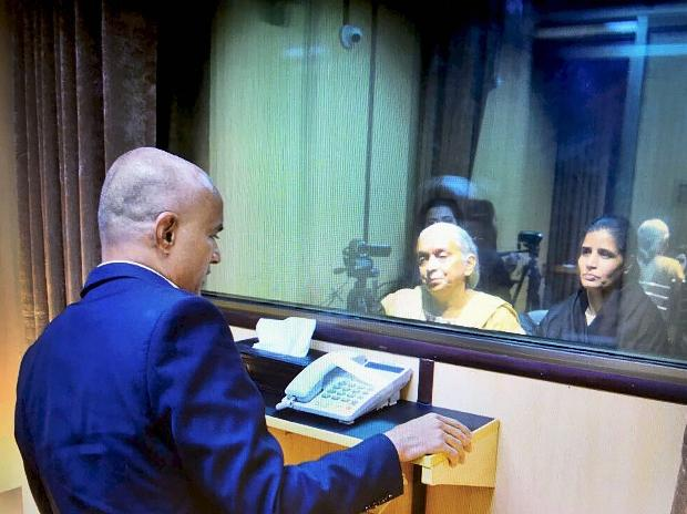 Afghans, Balochs, PIO stir at Pak embassy against Jadhav family's treatment